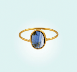 Blue Kyanite Fine Stacker Ring